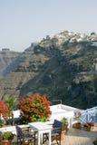 santorini widok fotografia stock