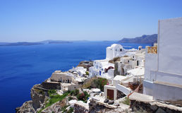 Santorini widok Obrazy Royalty Free