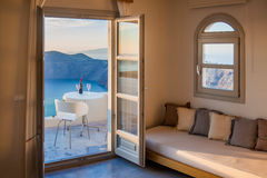 Santorini widok Zdjęcia Royalty Free
