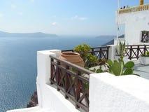 Santorini widok na ocean Obrazy Royalty Free