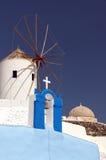 Santorini Windmühle 03 Lizenzfreie Stockfotos