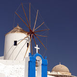 Santorini Windmill 04 Stock Photos