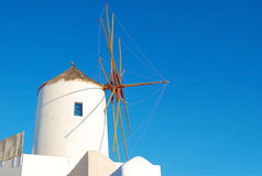 Santorini windmill Stock Images