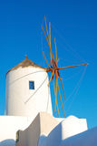 Santorini windmill Stock Photo