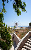Santorini windmill Royalty Free Stock Image