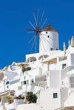 Santorini - windmill in Oia. Stock Photo