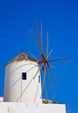 Santorini windmill, Oia, Greece Royalty Free Stock Photo