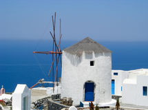 Santorini windmill. The remainder of a windmill in Santorini, Greece Royalty Free Stock Image