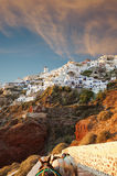 Santorini Windmill sunset Royalty Free Stock Photos