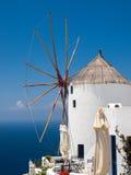 Santorini windmill Stock Image