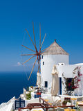 Santorini windmill royalty free stock photo
