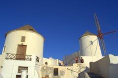 Santorini windmills,Greece Royalty Free Stock Photo