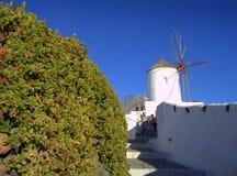 Santorini windmills,Greece Stock Photography