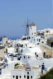 Santorini windmills Royalty Free Stock Photography
