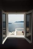 Santorini window Royalty Free Stock Photos