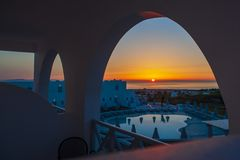 Free Santorini Wonderful Sunrise Royalty Free Stock Photos - 159257688