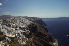 Santorini wyspa bóg Obrazy Royalty Free