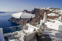 Santorini wyspy podróży sceneria i miejsce przeznaczenia Obraz Royalty Free