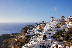Santorini wyspy wiatraczek Zdjęcie Royalty Free