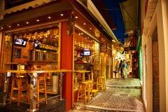 Santorini życie nocne Obraz Royalty Free