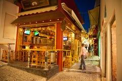 Santorini życie nocne Zdjęcia Royalty Free
