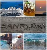 Santorinicollage Stock Fotografie