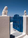 Santorinihotel royalty-vrije stock afbeeldingen