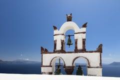 Santoriniklokketoren Royalty-vrije Stock Foto's