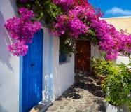 Santorinilandschap van kunstgriekenland royalty-vrije stock fotografie