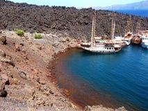 Santorinis硫磺群岛希腊 免版税库存图片