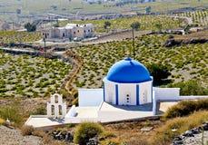 Santorinis kyrka Arkivfoton