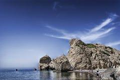 Santorinis Sonnenuntergang Lizenzfreies Stockbild