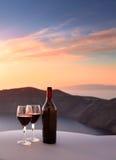 Santoriniwijn stock afbeeldingen