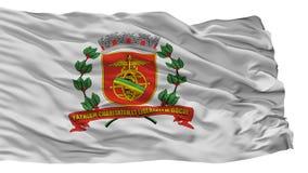 Santos City Flag, Brasilien, lokalisiert auf weißem Hintergrund vektor abbildung