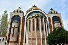 Santos Cyril y Methodius en Salónica, Grecia imagenes de archivo