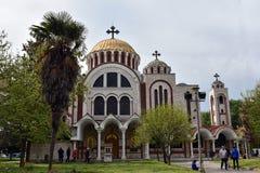 Santos Cyril y Methodius en Salónica, Grecia imagen de archivo