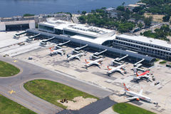 Santos Dumont airport. In Rio de Janeiro Royalty Free Stock Images