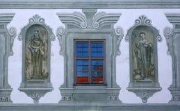 Santos, fresco en la abadía famosa de Benediktbeuern, Alemania Imagen de archivo