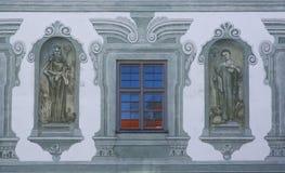 Santos, fresco en la abadía famosa de Benediktbeuern, Alemania Foto de archivo libre de regalías