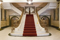 Santos Mayor House Brazil. The adorned luxurious stair inside Santos Mayor House, Brazil Royalty Free Stock Images
