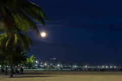 Santos at Night. Night photo of the city of Santos, Brazil Royalty Free Stock Images