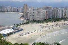 Santos och Sao Vicente - Sao Paulo - Brasilien Arkivbild