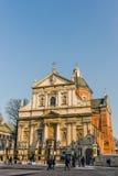 Santos Peter e iglesia de Paul Imagenes de archivo