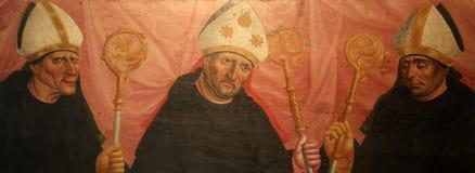 Santos, retablo en la abadía famosa de Benediktbeuern de la basílica de Benedicto del santo, Alemania Imagenes de archivo