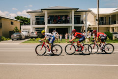 Santos Tour Down Under Day 5, valle de McLaren, los tres líderes Foto de archivo