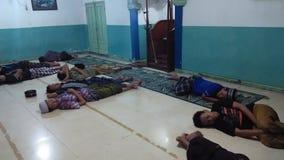 Santri et mosquée Photos libres de droits