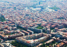 Sants residential district from helicopter. Barcelona Stock Photos