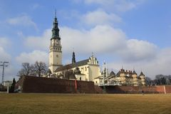 Santuário Czestochowa.Poland de Jasna Gora da porta Fotos de Stock