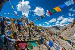 Santuário da passagem de Khardungla Fotos de Stock Royalty Free