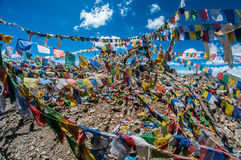 Santuário da passagem de Khardungla Fotografia de Stock